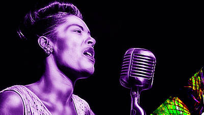 Billie Holiday Mixed Media - Billie Holiday Collection by Marvin Blaine