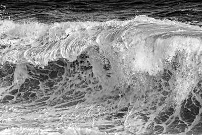 Photograph - Black And White Large Waves Near Pemaquid Point On The Coast Of  by Keith Webber Jr