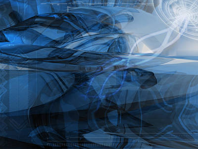 Blue Digital Art - Blue by Maye Loeser