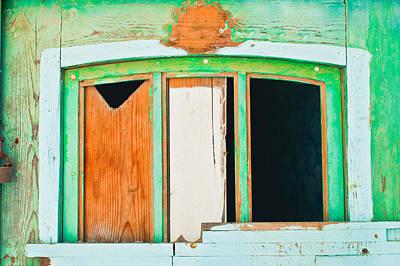 Boarded Up Window Art Print by Tom Gowanlock