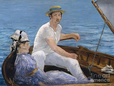 Sailor Hat Painting - Boating by Edouard Manet