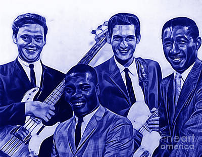 Music Mixed Media - Booker T. And The M.g's by Marvin Blaine
