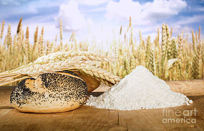 Photograph - Bread And Wheat Cereal Crops by Deyan Georgiev