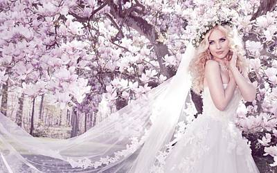 Love Digital Art - Bride by Super Lovely