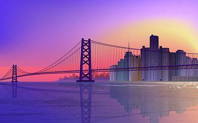 Landmark Digital Art - Bridge by Maye Loeser