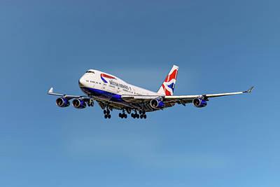 Mixed Media - British Airways Boeing 747-400 by Smart Aviation