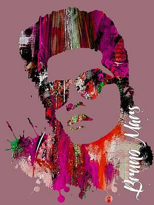 Acrylic Mixed Media - Bruno Mars Collection by Marvin Blaine