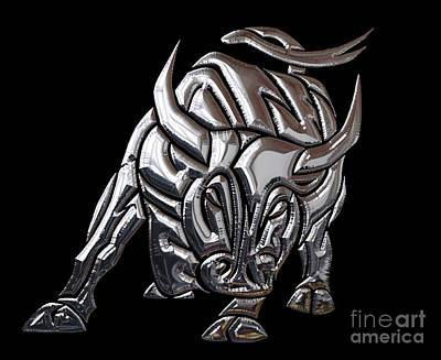 Bull Collection Art Print by Marvin Blaine
