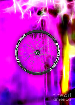 Mixed Media - Carbon Fiber Bicycle Wheel Collection by Marvin Blaine