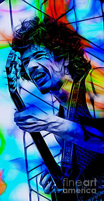 Carlos Santana Collection Art Print by Marvin Blaine
