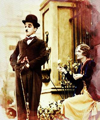 Musicians Royalty Free Images - Charlie Chaplin Royalty-Free Image by John Springfield