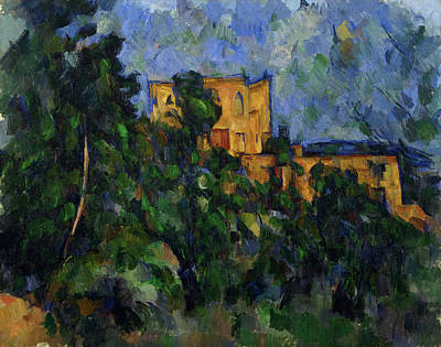 Sundown Painting - Chateau Noir by Paul Cezanne