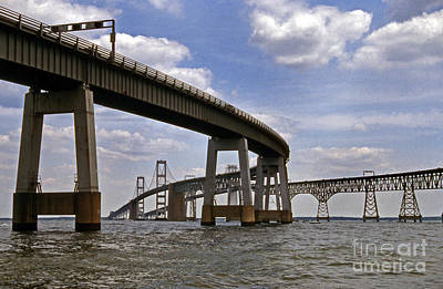 Blue Highway Photograph - Chesapeake Bay Bridge by Skip Willits