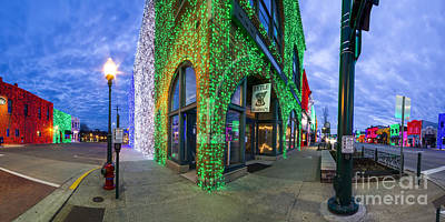 Light Show Photograph - Christmas Lights In Rochester by Twenty Two North Photography