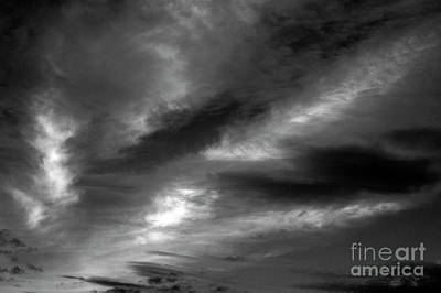 Photograph - Cirrus Clouds Wisps Of Light  by Jim Corwin