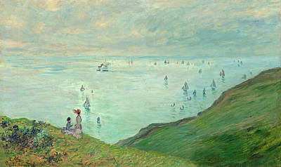 Painting - Cliffs At Pourville by Claude Monet