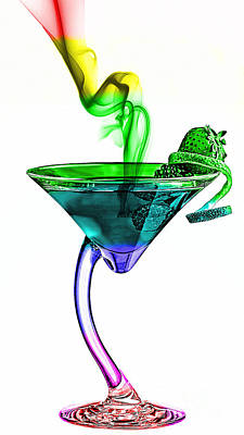 Glass Art Mixed Media - Cocktails Collection by Marvin Blaine