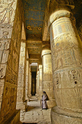 Photograph - Colonnade In An Egyptian Temple by Michele Burgess