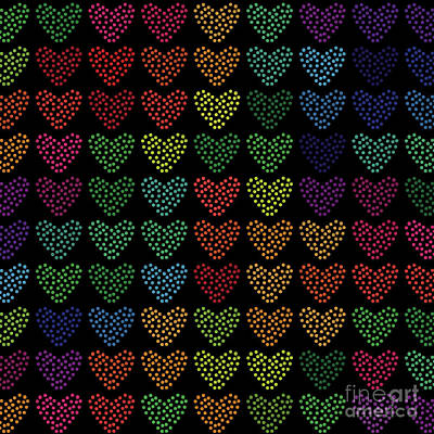 Valentines Day - Colorful Hearts by Amir Faysal