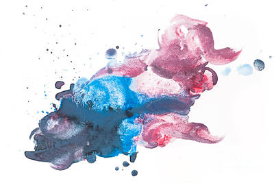 Watering Photograph - Colorful Watercolor Paint On White Canvas. Super High Resolution And Quality. by Michal Bednarek
