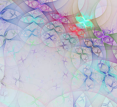 Diffusion Digital Art - Computer Generated Fractal Image by Sergey Nosov