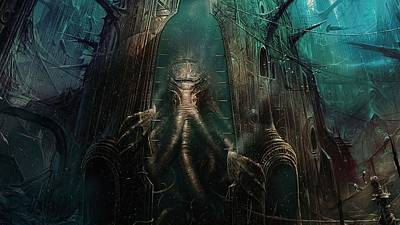 Cthulhu Digital Art - Cthulhu by Super Lovely