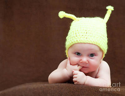 Photograph - Cute Newborn Portrait by Gualtiero Boffi