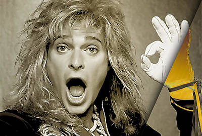 David Lee Roth Mixed Media - David Lee Roth Collection by Marvin Blaine