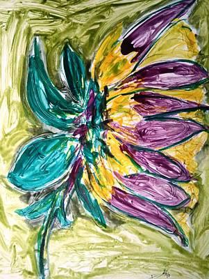 Divine Flower Art Print by Baljit Chadha