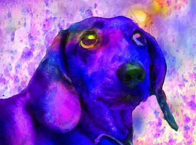 Domestic Animals Digital Art - Dogs by Elena Kosvincheva
