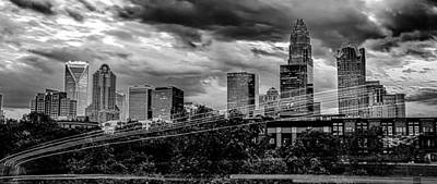 Kitchen Collection - Downtown of Charlotte  North Carolina skyline with dramatic sky by Alex Grichenko