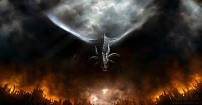 Bright Digital Art - Dragon by Maye Loeser