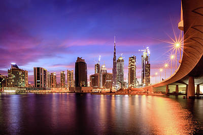 Vintage Baseball Players Rights Managed Images - Dubai downtown skyline Royalty-Free Image by Alexey Stiop