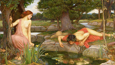 Painting - Echo And Narcissus  by John William Waterhouse