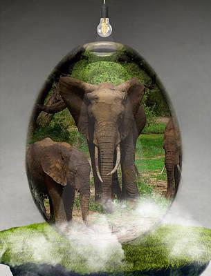 Mixed Media - Elephant Art by Marvin Blaine