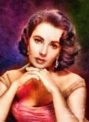 Elizabeth Taylor Painting - Elizabeth Taylor, Vintage Hollywood Legend by John Springfield