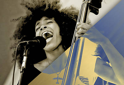Mixed Media - Esperanza Spalding Collection by Marvin Blaine