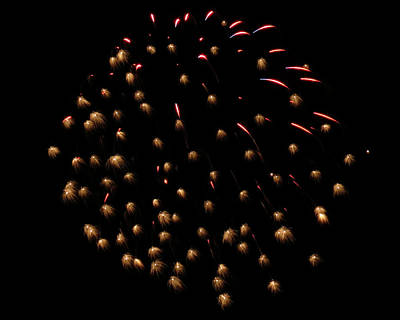 Photograph - Firework Display by Kyle J West