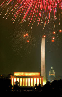 Photograph - Fireworks Over Washington, Dc by Carl Purcell