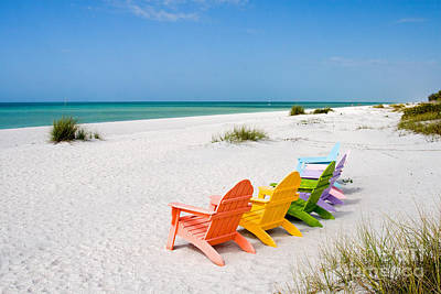 Florida Sanibel Island Summer Vacation Beach Print by ELITE IMAGE photography By Chad McDermott