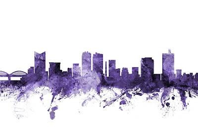 Digital Art - Fort Worth Texas Skyline by Michael Tompsett