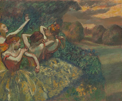 Four Dancers Art Print by Edgar Degas