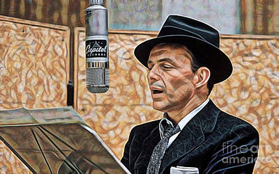 Sinatra Mixed Media - Frank Sinatra Collection by Marvin Blaine
