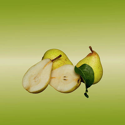 Photograph - Fresh Pears Fruit by David French