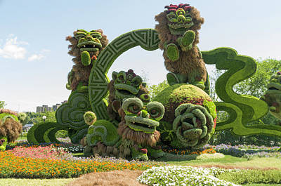 Gatineau Park Photograph - From Shanghai Joyful Celebration Of The Nine Lions 3 by Bob Corson