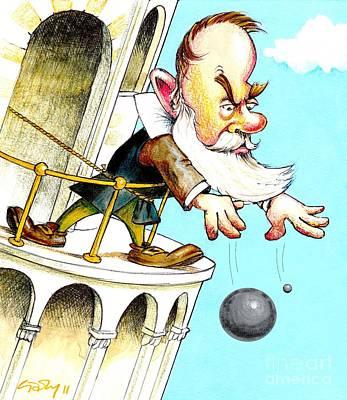Galileos Falling Bodies Experiment Art Print