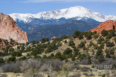 Steven Krull Royalty-Free and Rights-Managed Images - Garden of the Gods Park in Colorado Springs in the Morning by Steven Krull