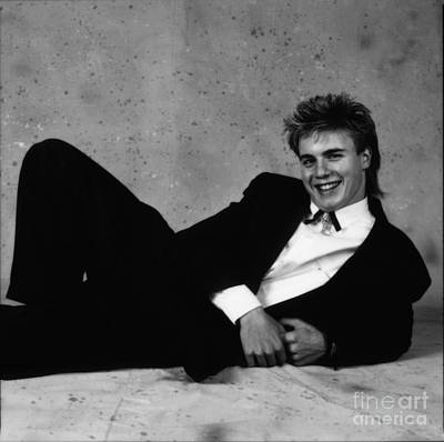 Photograph - Gary Barlow - 1st Professional Photo Shoot - 1989 By Doc Braham by Doc Braham