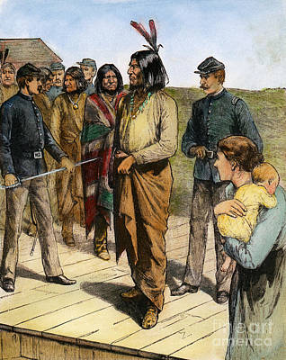 Geronimo 1829-1909.  To License For Professional Use Visit Granger.com Art Print