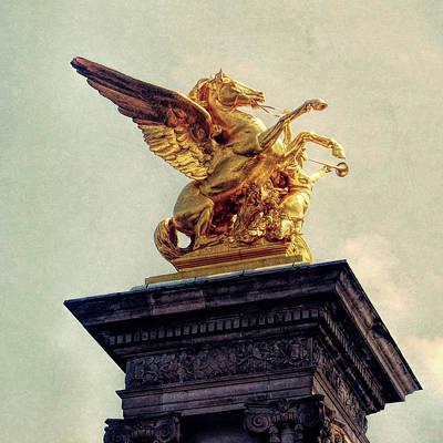 Photograph - Pegasus In Paris by JAMART Photography